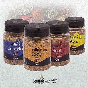 Combo de Temperos para Churrasco - Salière Grill para Carnes Vermelhas, Porco, Carneiro e Frango
