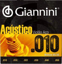 ENC. GIANNINI VIOLÃO BRONZE 65/35 0.010