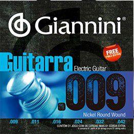 ENC. GIANNINI GUITARRA NIQUEL 0.009