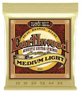 ENC. ERNIE BALL VIOLÃO AÇO 012 EARTHWOOD MEDIUM