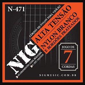 ENC. NIG VIOLÃO NYLON BRANCO 7 CORDAS C/ BOLINHA