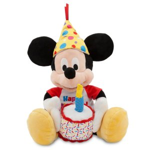 Mickey de Pelúcia Musical Happy Birthday