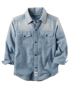 camisa jeans Carter's
