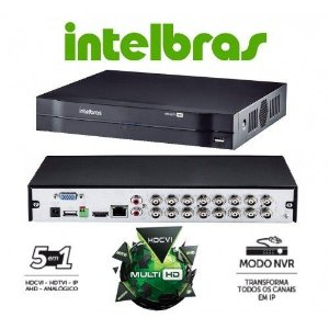 DVR INTELBRAS MULTI HD MHDX 1016 16 CANAIS