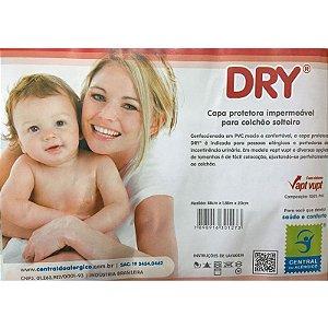 Capa Protetora Impermeável para Colchão Solteiro Dry 100% PVC