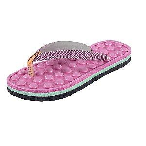 Chinelo Biriflex Kombat Massageador Feminino Cor Rosa Pink Ref.690