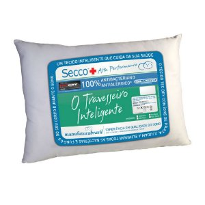 Travesseiro Secco Antialérgico Alta Performance Adulto 50 x 70 cm