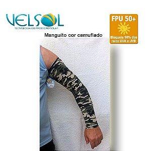 Manguito de Proteção Solar Velsol Cor Camuflado Tamanho G