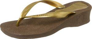 Chinelo Cleópatra I Tratamento Esporão de Calcâneo Cor Dourado