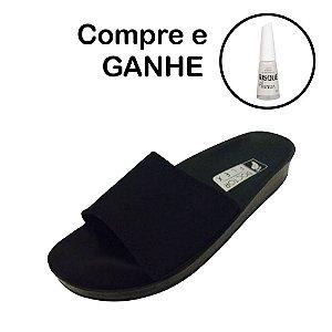 Sandália Anatômica para Esporão  Doctor Flex de Neoprene Cor Preta + Brinde