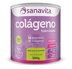 Colágeno Hidrolisado Sabor Abacaxi com Hortelã 300g Sanavita