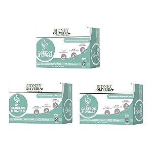 Vitamina Sidney Oliveira Fortalecedora para Cabelos e Unhas - Kit 3 caixas