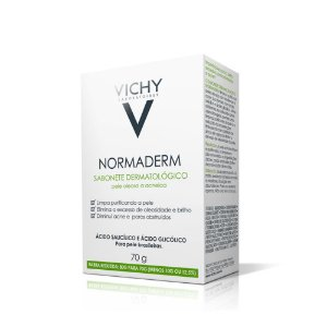 Normaderm Sabonete Dermatológico em barra 70g Vichy