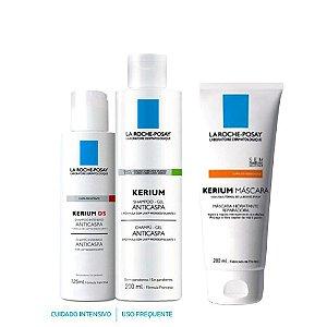 Kit Anticaspa Kerium Shampoo Gel + Shampoo DS + Máscara Hidratante - La Roche-Posay