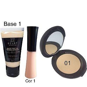 Kit de Maquiagem Hipoalergênica para Pele Básico Cor 01 Eclat Alergoshop
