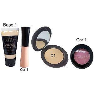 Kit de Maquiagem Hipoalergênica para Pele Completo Cor 01 Eclat Alergoshop
