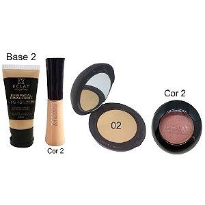 Kit de Maquiagem Hipoalergênica para Pele Completo Cor 02  Eclat Alergoshop