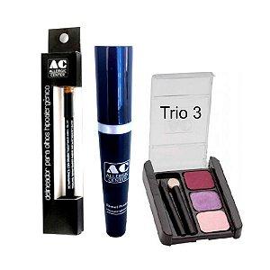 Kit de Maquiagem Hipoalergênica para Olhos Básico Cor 3
