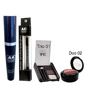 Kit de Maquiagem Hipoalergênica para Olhos Completo Cor 1 - 02