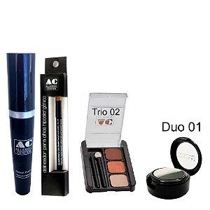 Kit de Maquiagem Hipoalergênica para Olhos Completo Cor 2 - 01