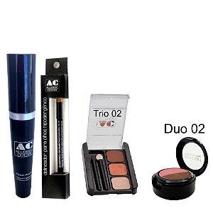 Kit de Maquiagem Hipoalergênica para Olhos Completo Cor 2 - 02