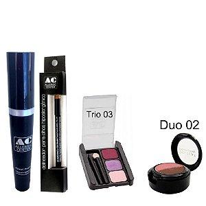 Kit de Maquiagem Hipoalergênica para Olhos Completo Cor 3 - 02