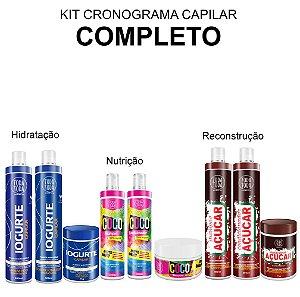 Kit Cronograma Capilar Completo - Iogurte Coco e Açúcar 1KG