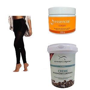 Kit para Tratamento de Celulite Sculptor Legging + Bálsamo Anti Celulite + Creme Café Verde