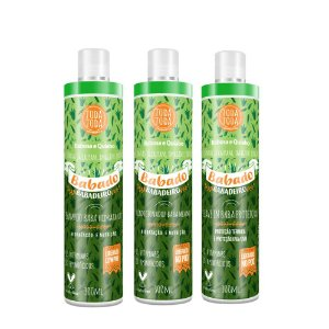 Kit Babado Babadeiro Shampoo + Condicionador +  Leave in