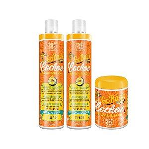 Kit Go Back Cachos Shampoo + Condicionador + Máscara 250g