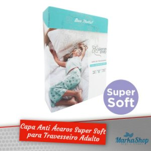 Capa para Travesseiro Super Soft Anti Ácaros Antialérgica Adulto 50 X 70 - Alergoshop