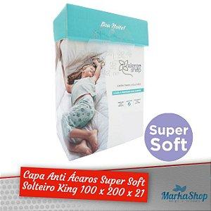 Capa para Colchão Super Soft Solteiro King 100 x 200 x 21 Anti Ácaros Antialérgica - Alergoshop
