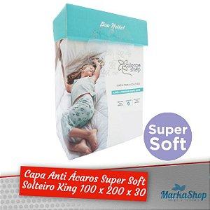 Capa para Colchão Super Soft Solteiro King 100 x 200 x 30 Anti Ácaros Antialérgica - Alergoshop