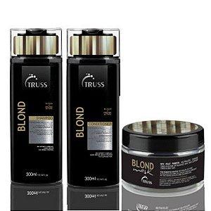 Truss Blond Shampoo + Condicionador + Máscara Cabelos Louros e Grisalhos