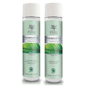 Kit Shampoo + Condicionador Pure Parabeno Free Extrato de Ervas 300ml Cabelos Mistos