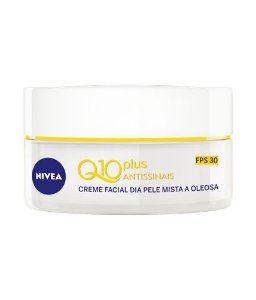Creme Facial Nivea Q10 Plus Antissinais Pele Mista e Oleosa FPS 30 50ml