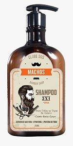 Shampoo 3 em 1 Clube dos Machos 250ml