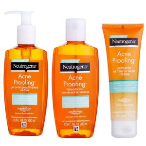 Kit de Limpeza Neutrogena Acne Proofing Gel + Tônico + Esfoliante