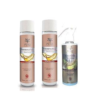 Kit Shampoo + Condicionador + Fluido Magic Repair Óleos Essenciais - Pure