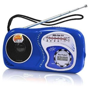 Mini Rádio portátil - pilha AM/FM