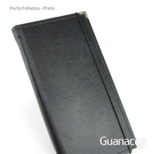 Porta Folhetos - Preto