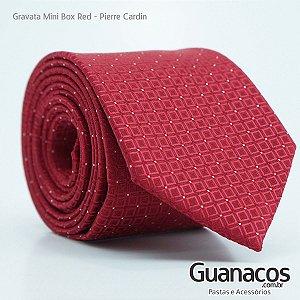 Gravata Mini Box Red - Pierre Cardin - Semi slim 8cm