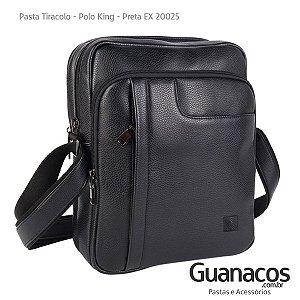f16455d3d26 Pasta Carteiro Tiracolo Laptop em Couro Sintético - Preta - Polo King 20025