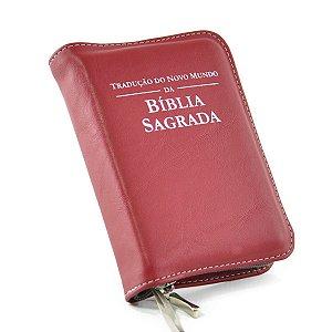 Capa para Bíblia com Ziper - couro sintético - Vermelho Turin