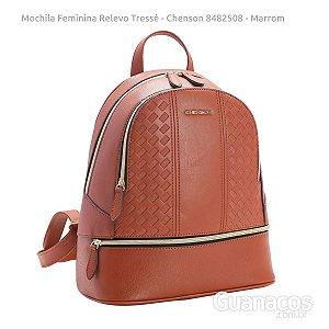 Mochila Feminina - Relevo Tressê - Chenson 8482508 - Marrom