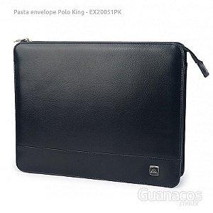 Pasta Envelope - Sintético - 2 divisórias - Polo King EX20051PK - Preto