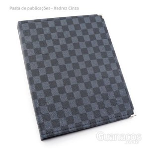 Pasta de Publicações SLIM - Xadrez Preto e cinza