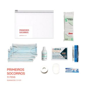 Kit Primeiros Socorros Essencial - 11 itens - Para mochila de emergência
