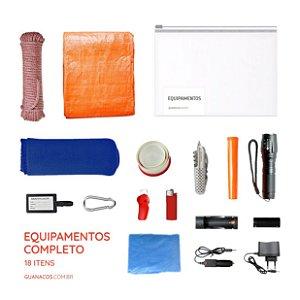 Kit Equipamentos - COMPLETO - 18 itens - Para mochila de emergência