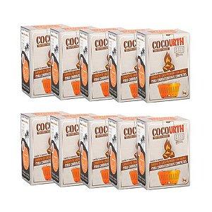 Carvão de Coco Premium (em cubos) - Combo 10 kg - Especial para Churrasqueiras Compactas